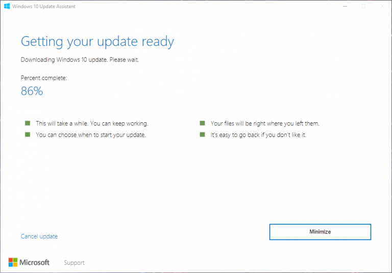 Windows 10 Upgrade Assistant